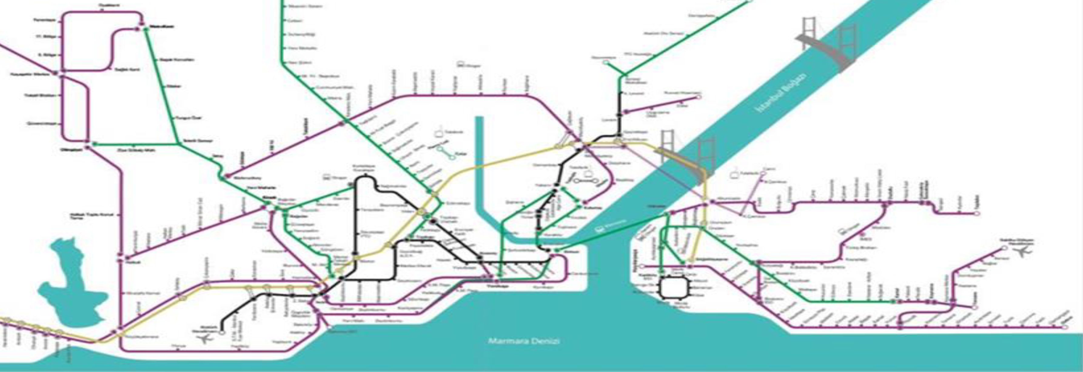Istanbul Subway Map 2015.Istanbul Smart Designed Metro Lines Road Maps For Energy